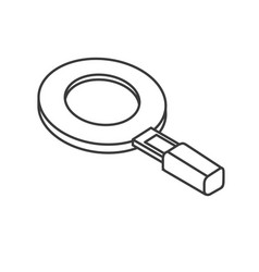 Line magnifying glass tool to search and explore vector
