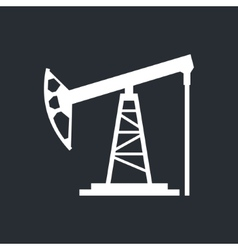 Oil derrick sign vector