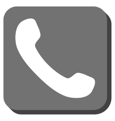 Phone receiver rounded square icon vector