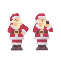 Santa claus thinking and scratching his beard vector