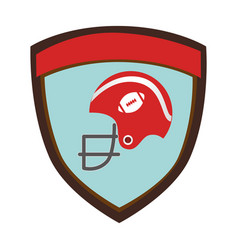 shield emblem with side view american football vector image