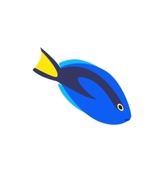 Surgeon fish icon isometric 3d style vector image vector image