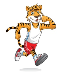 Tiger Runner vector image