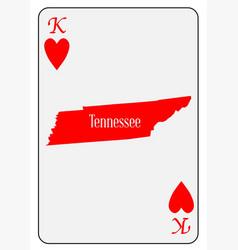 usa playing card king hearts vector image