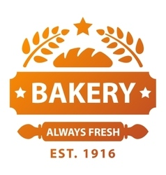 Bakery badge and logo icon vector