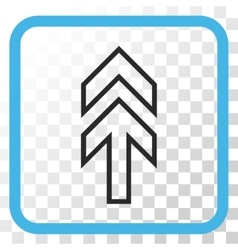 Direction up icon in a frame vector