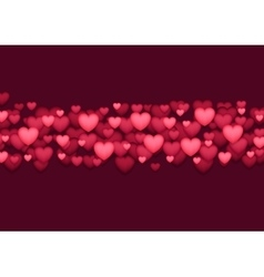 Abstract shiny red valentines day hearts vector