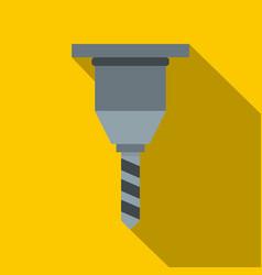 Drill bit icon flat style vector