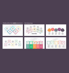 Business infographics presentation templates with vector