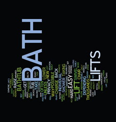 Bath safety text background word cloud concept vector