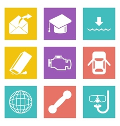 Icons for web design set 17 vector