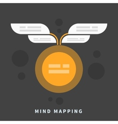 Mind map template with place for your content vector