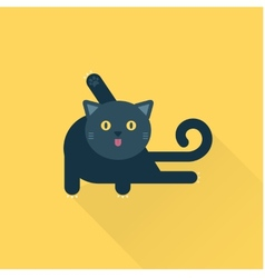 cleaning cat vector image