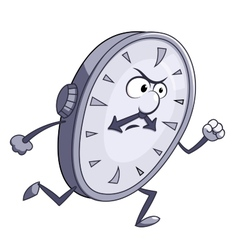 Angry clock is running vector