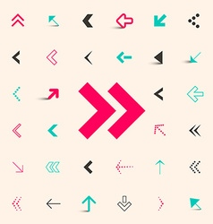 Arrows buttons set vector