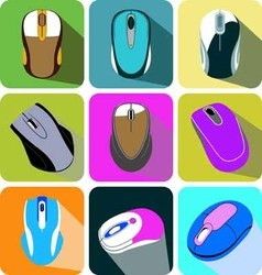 Collection computer mouse icon vector
