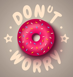 Donut worry vector