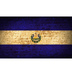 Flags el salvador with dirty paper texture vector