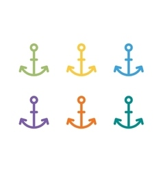 Anchor logo icon sea sailor symbols vector