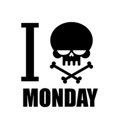 I hate monday a symbol of hatred emblem with a vector