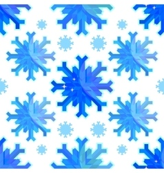 The geometric snowflakes on a white background vector