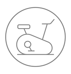 Exercise bike line icon vector