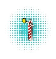 Rail semaphore icon comics style vector