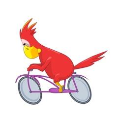 Funny parrot biker vector