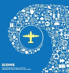 aircraft sign symbol Nice set of beautiful icons vector image