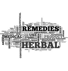 Are herbal remedies the answer text word cloud vector