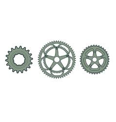 bike gears vector image vector image