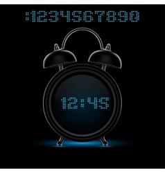 Black alarm clock vector