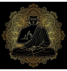 Bubbha sitting in lotus position vector