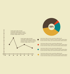 Business infographic design line graph and diagram vector