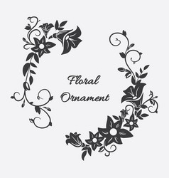 card with flower ornament vector image vector image