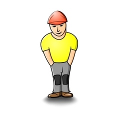 Cartoon builder vector