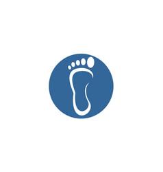 circle foot logo vector image vector image