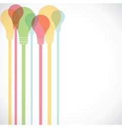 colorful bulb vector image vector image