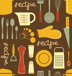 Cooking recipe pattern vector image vector image