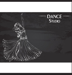 dance line chalk belly dance vector image vector image