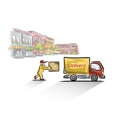 Delivery vector image vector image