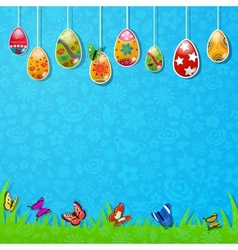 Easter background made of paper vector image vector image