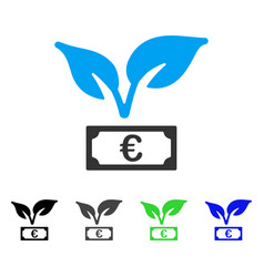 Euro startup sprout flat icon vector