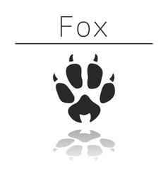Fox animal track vector