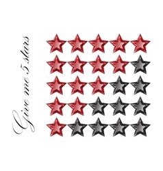 Gemstones stars rating isolated on white vector