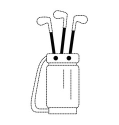 Golf bag with clubs vector