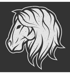 Horse symbol logo for dark background vector