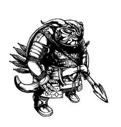 Mongolian steppe troll vector image