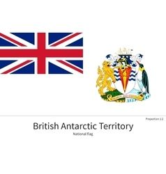 National flag of british antarctic territory with vector