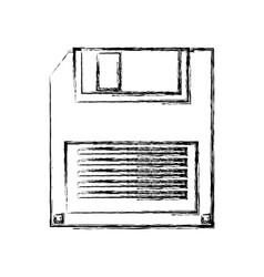 Old computer diskette vector